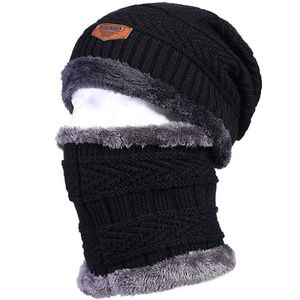 78572f95a13 Accessories - Unisex Winter Beanie Hat with Neck Warmer